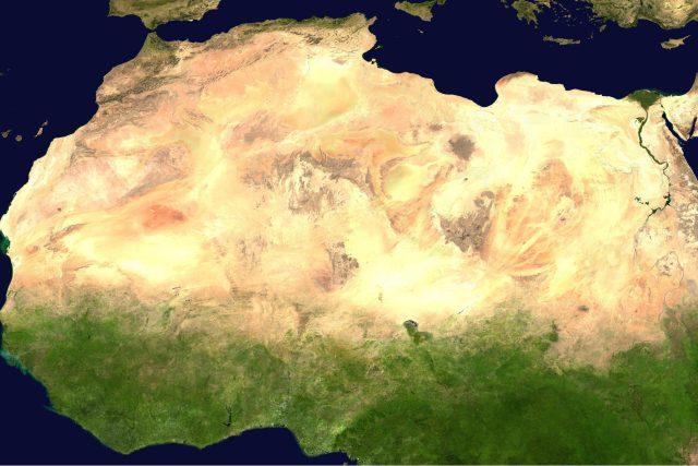 Sahara viděná z vesmíru