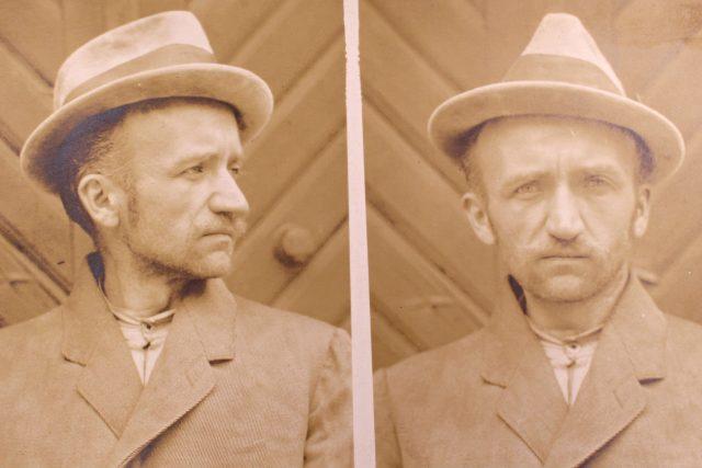 Policejní foto Ludvíka Nováka