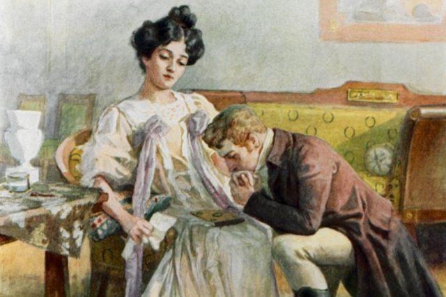 Ilustrace k Puškinově Evženu Oněginovi