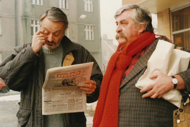 Milan Lasica a Julius Satinský v Ostravě  (21. února 1994) | foto: Fotobanka Profimedia
