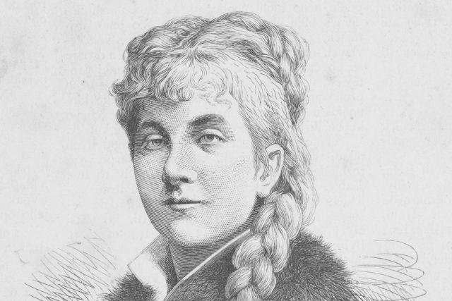 Leopoldina Ortova de Pauli v roce 1883 na díle autora Josefa Mukařovského