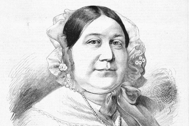 Magdalena Dobromila Rettigová (1785–1845) na portrétu Jana Vilímka (1860–1938); zhruba v roce 1885