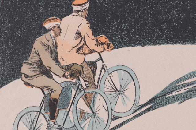 Na kole přes Asii (plakát, 1894)