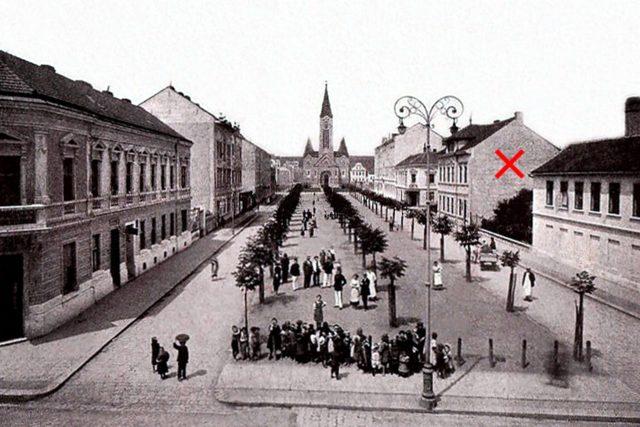 Občanská záložna náměstí Republiky před první světovou válkou