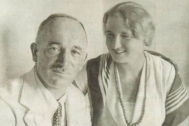 Edvard Beneš a Hana Benešová (1934)