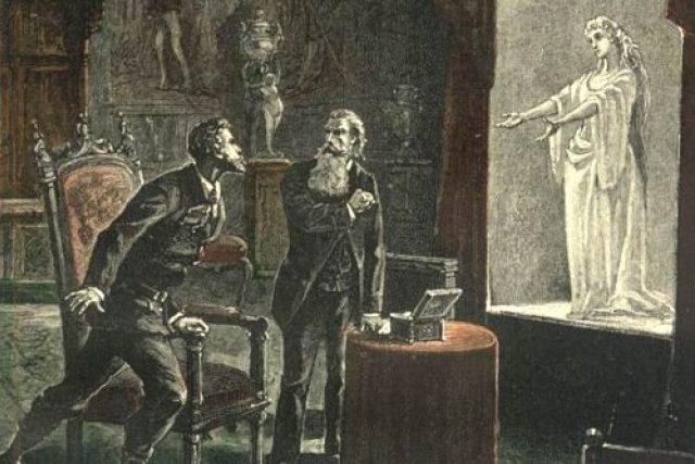 Původní ilustrace k románu Tajemný hrad v Karpatech