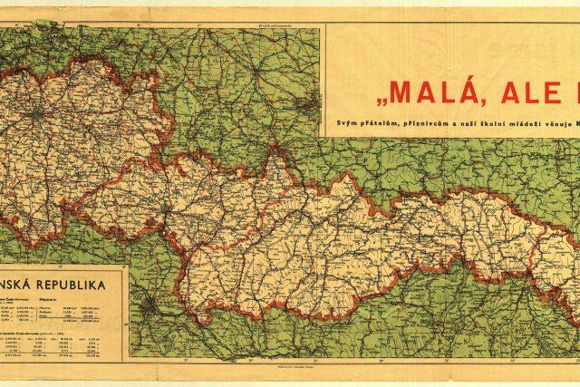 Na mapě je zřetelný rozsah územních ztrát tehdejšího státu. Po necelém půlroce byl na zbývajícím území zřízen Protektorát Čechy a Morava a Slovenský štát