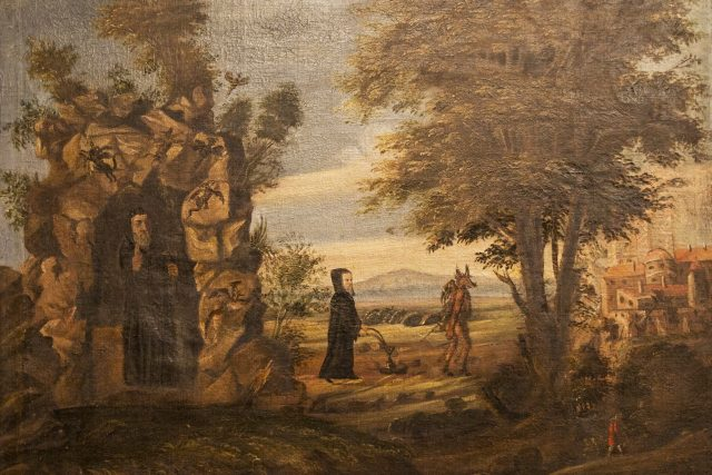 Obraz sv. Prokopa orajícího s čertem | foto: Sázavský klášter