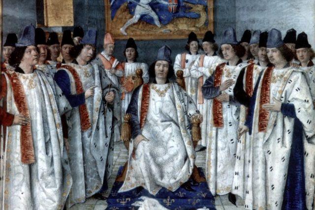 Ludvík XI. a rytíři řádu sv. Michala