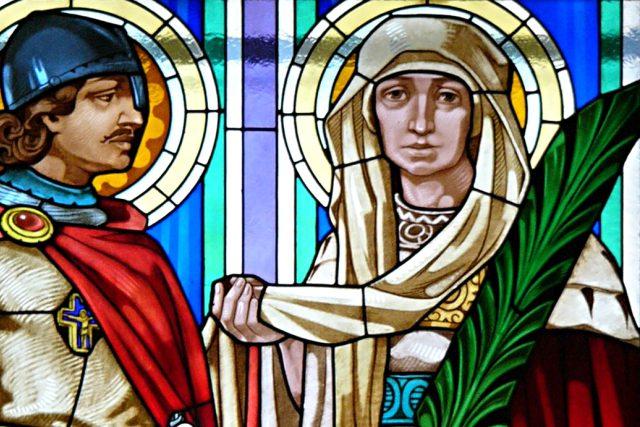 Svatý Václav a svatá Ludmila  v kostele svatého Cyrila a Metoděje v Olomouci | foto: Michal Maňas,  Wikimedia Commons,  CC BY 3.0
