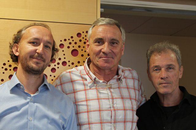 Milan Hein, Martin Šimek a Jan Čenský