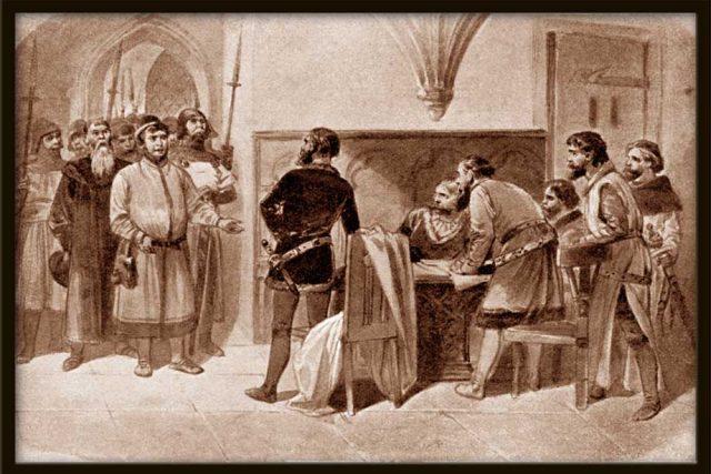 Zajetí pánů českých v klášteře Sedleckém