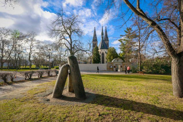 Čertův sloup nebo Ďáblovy kameny na Vyšehradě v Praze