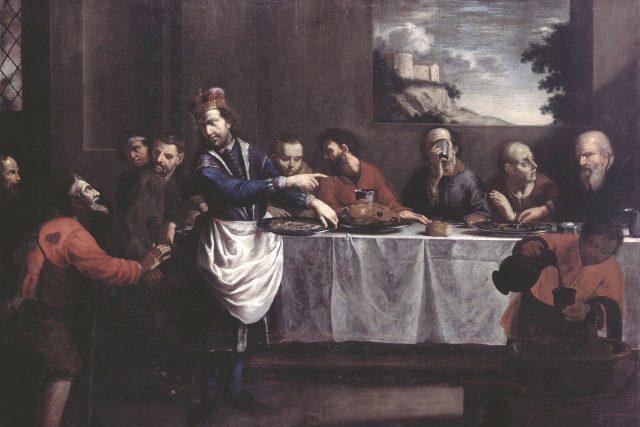 Jan Jiří Heinsch, Svatý Václav přisluhuje u stolu chudým