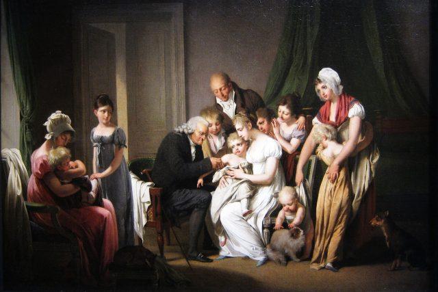 Očkování,  1807   foto: Louis Boilly,  Wikimedia Commons,  CC0 1.0