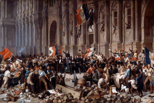 Lamartine před pařížskou radnicí 25. února 1848 | foto: Henri Félix Emmanuel Philippoteaux,  Wikimedia Commons  (5010810),  CC0 1.0