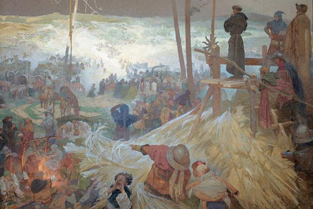 Alfons Mucha: Na Křížku | foto: Alfons Mucha,  Wikimedia Commons,  CC0 1.0
