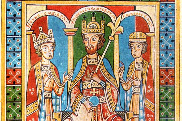 Fridrich I. Barbarossa se svými dětmi | foto: Wikimedia Commons