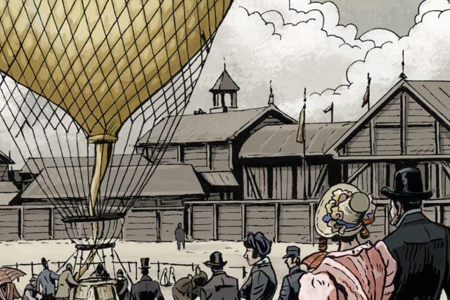 Výřez z knihy Vzduch je naše moře, kterou k seriálu vydává nakladatelství Argo