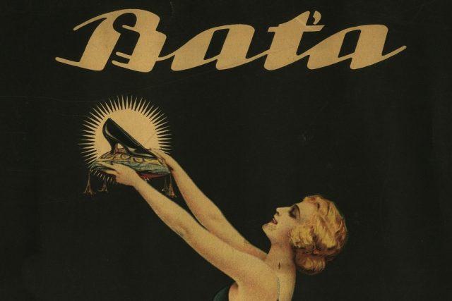 Reklama na obuv Baťa z roku 1925