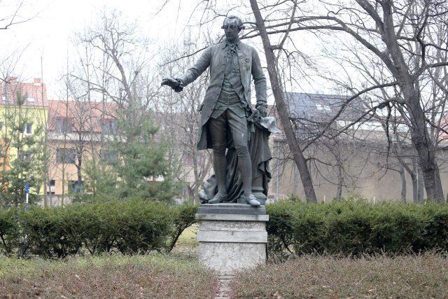 Pomník Josefa II. stával před Německým domem na dnešním Moravském náměstí v Brně | foto: Anna Vavríková,  MAFRA / Profimedia