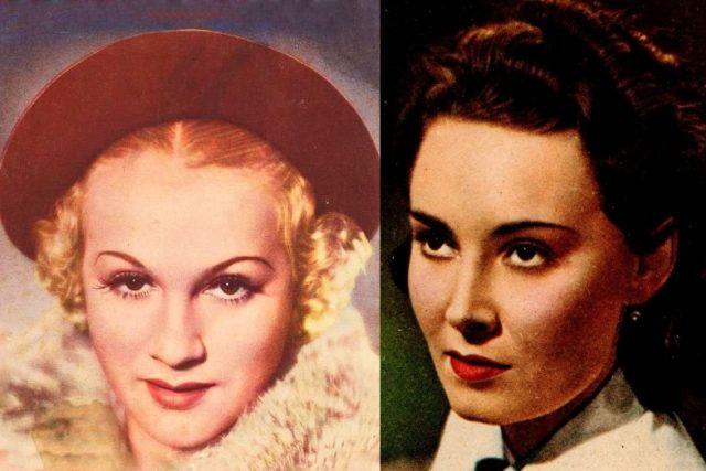 Adina Mandlová a Lída Baarová na obálkách časopisu Kinorevue