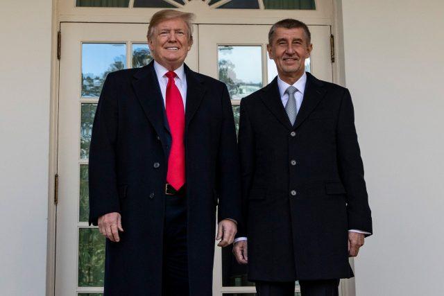 Donald Trump a Andrej Babiš v Bílém domě
