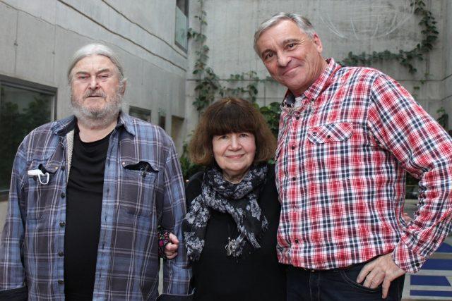František Ringo Čech,  Uršula Kluková,  Jan Čenský   foto: Julie Kalodová,  Český rozhlas,  Český rozhlas