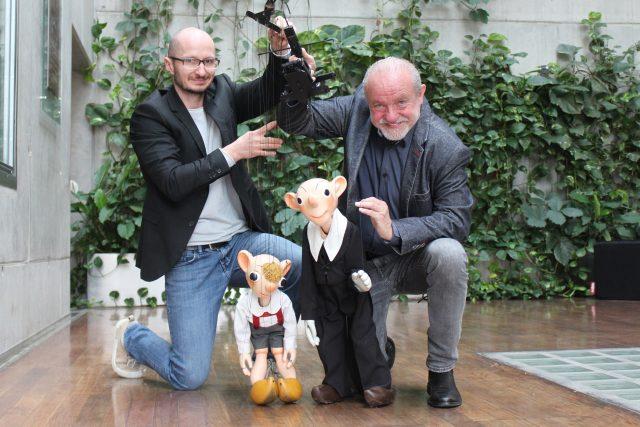 Martin Klásek,  Ondřej Lážnovský,  Divadlo Spejbla a Hurvínka | foto: Julie Kalodová,  Český rozhlas,  Český rozhlas