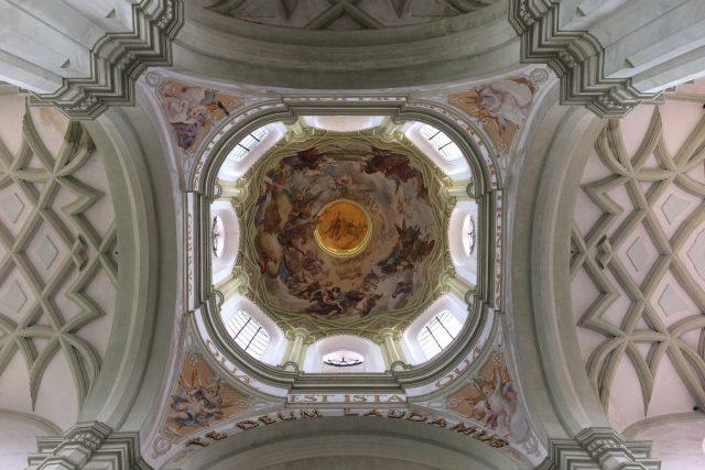 Vnitřní Santiniho výzdoba kopule | foto: Pavel Halla