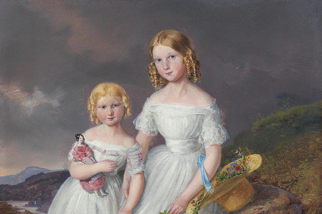 Sestry Františka a Serafína Kolowrat Krakowských