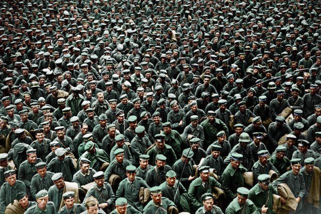 Němečtí váleční zajatci ve Francii v srpnu 1918