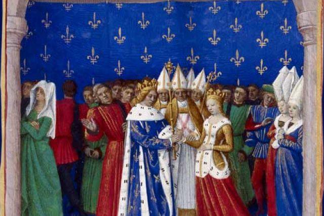 Karel IV. Sličný a Marie Lucemburská,  Karlův strýc a teta | foto: Jean Fouquet,  Wikimedia Commons,  CC0 1.0