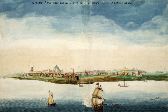 Nový Amsterdam v roce 1664 | foto: Johannes Vingboons,  Wikimedia Commons,  CC0 1.0