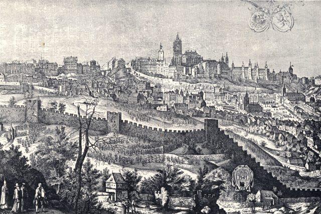 Pražský hrad a Malá Strana roku 1607 | foto: Aegidius Sadeler,  Wikimedia Commons,  CC0 1.0