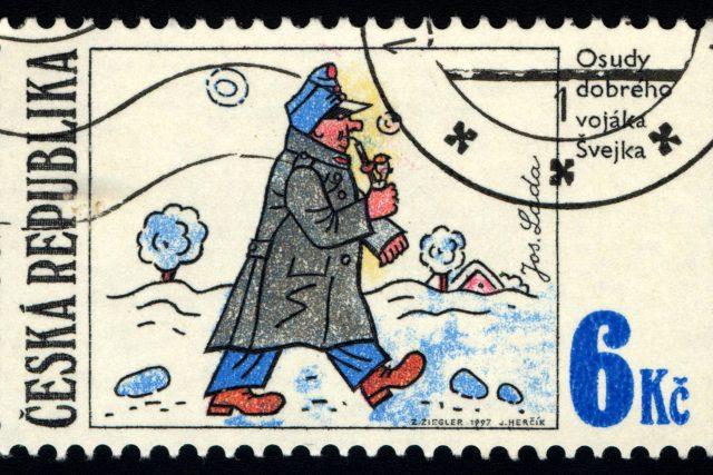 Švejk na poštovní známce