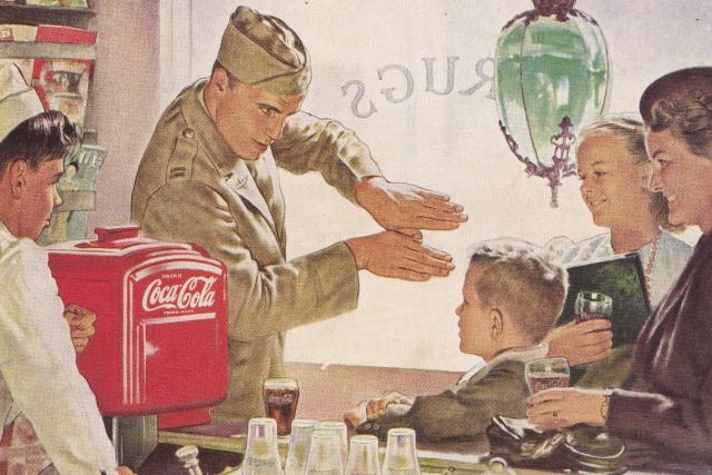 Reklama na Coca-Colu v časopise National Geographic (červen 1944)