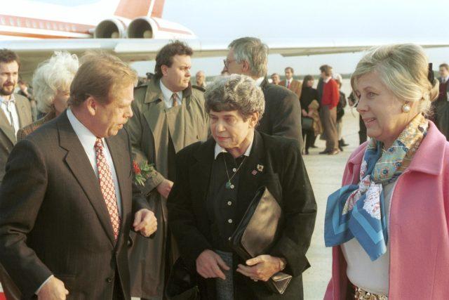 Rita Klímová a Václav Havel