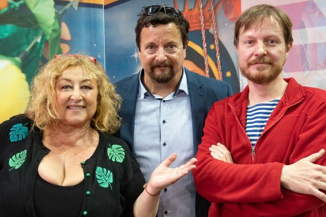 Halina Pawlowská, Michal Viewegh a Jan Flaška (Pokračování za chvilku živě ze Světa knihy 2019)
