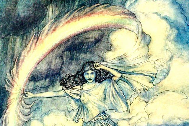 Slované si Meluzínu představovali jako bílou paní s rozpuštěnými dlouhými vlasy