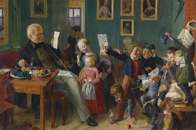 Hodné dívky, špatní hoši – školní třída v Tyrolích (mezi 1835–48)