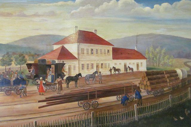 Dobový obraz koněspřežky v Bujanově