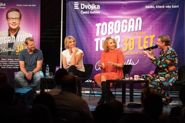 Tobogan Tour z Plzně: Tobogan Tour z Plzně: Martin Stránský, Ivana Chýlková, Bára Munzarová a Aleš Cibulka