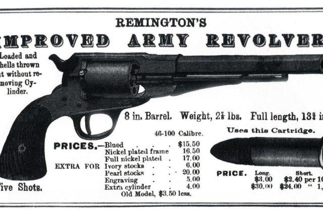 Původním zdrojem obživy rodiny Remingtonových byla výroba zbraní