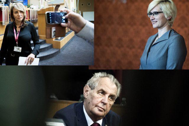Adriana Krnáčová, Karla Šlechtová, Miloš Zeman