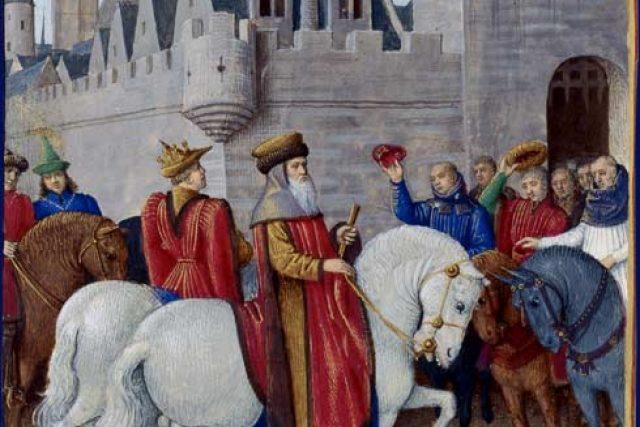 Císař vjíždí do Cambrai ve Francii
