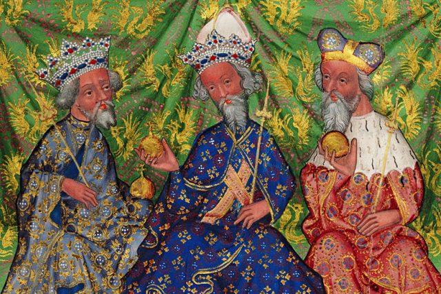 Václav IV., Karel IV. a Jošt Moravský