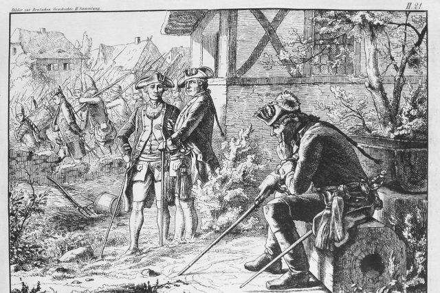 Friedrich II. po bitvě,  1878. | foto: Wilhelm Camphausen,  Wikimedia Commons,  CC0 1.0