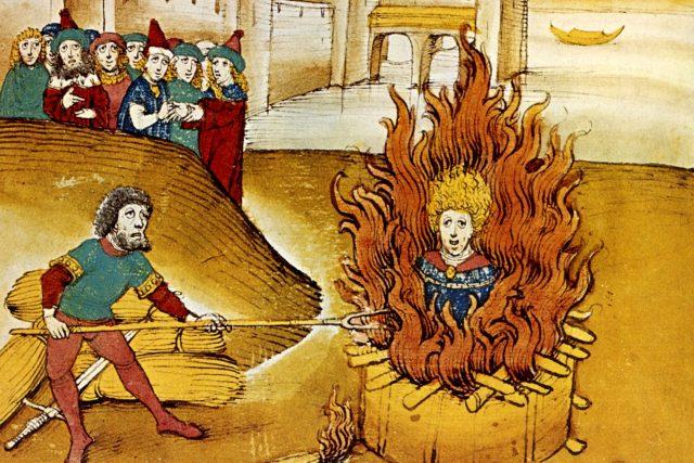 Upálení Jana Husa,  Spiezeriva kronika  (1485) | foto: Wikimedia Commons,  CC0 1.0