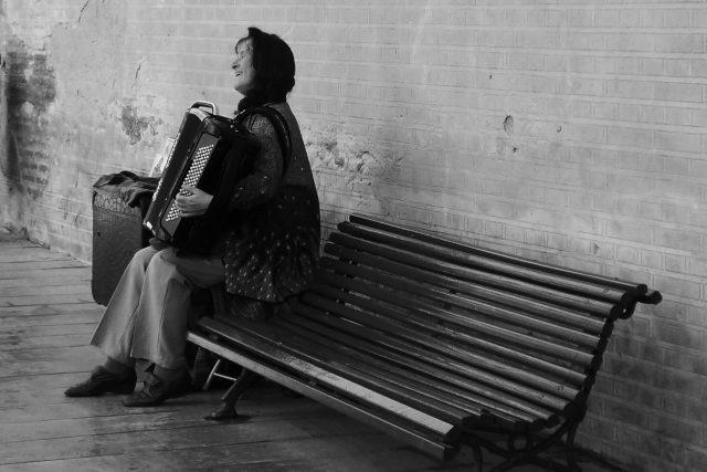Žena s akordeonem